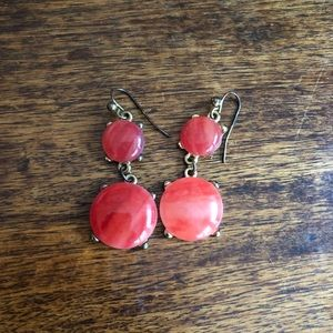 Francesca's Collection 2-tier red drop earrings